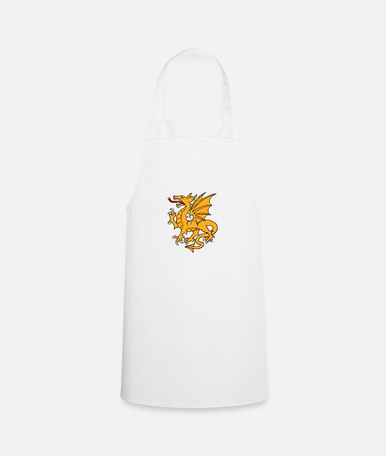 Hanggliding Aprons - Golden Dragon - Apron white