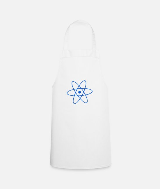 Chemistry Aprons - Atom - Apron white