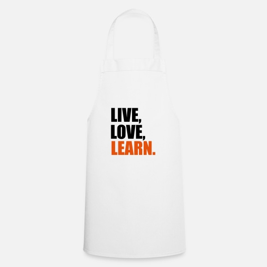 Student Aprons - learn - Apron white