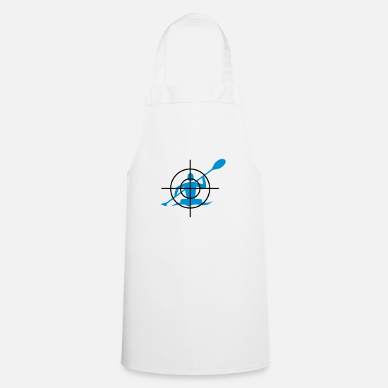 Canoe Aprons - Canoeing in the crosshairs - Apron white