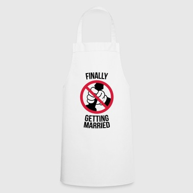 Jerking Off Finally getting married with cock, jerk, wank T-Shirts - Cooking Apron
