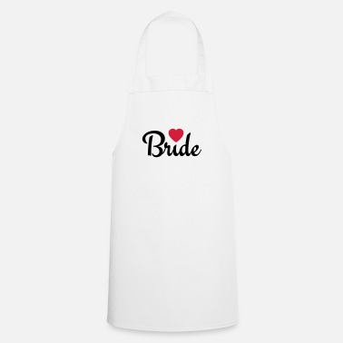 Hen bride with heart 2c - Cooking Apron