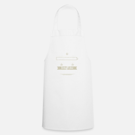 Birthday Aprons - GIFT CREATES THIS NO industrial mechanic - Apron white