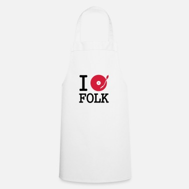 Music I dj / play / listen to folk - Apron