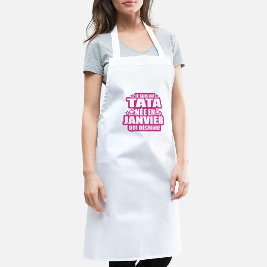 famille Tablier de Cuisine Je suis une Tata qui déchire