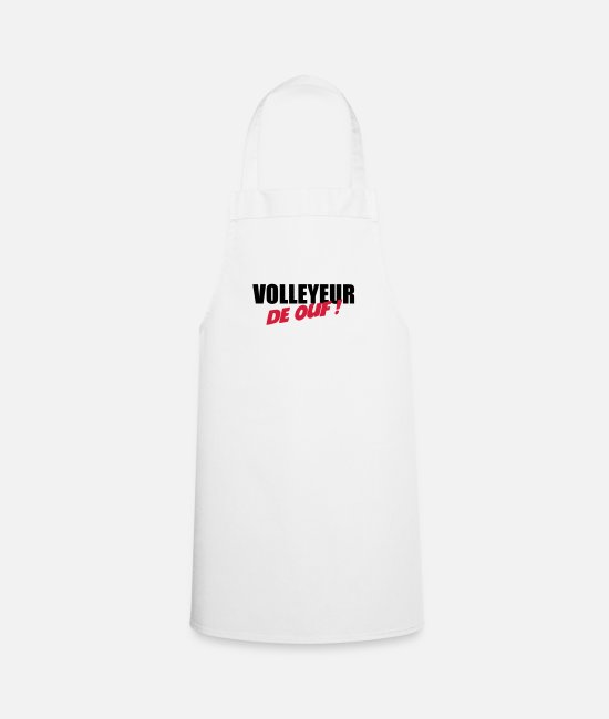 Play Aprons - Volleyball - Volley Ball - Sport - Sportsman - Apron white