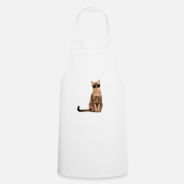 Shade Cat With Shades - Cooking Apron