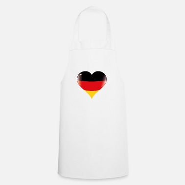 Germania Cuore Bandiera Germania - Grembiule da cucina