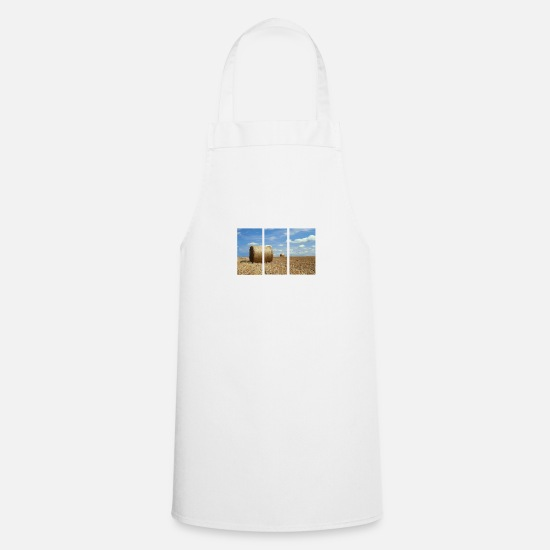 Heat Aprons - Hay bales in 3 parts - Apron white