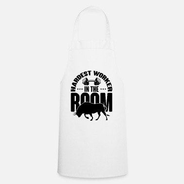 Dumbbell HARDEST WORKER IN THE ROOM Muscle Shirt Power Lift - Apron