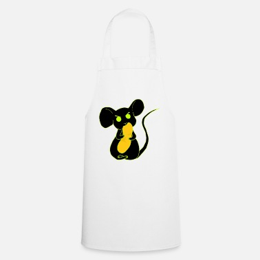 angry mouse eating neon - Apron