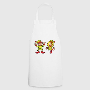 Tree Christmas theme Christmas elf Christmas elves - Cooking Apron