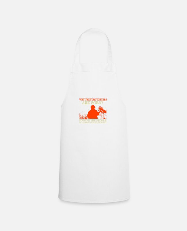 Fire Department Aprons - Firefighters firebrigade fire defense defender new ho - Apron white