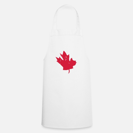 Canadian Kookschorten - Canadian Maple Leaf - Schort wit