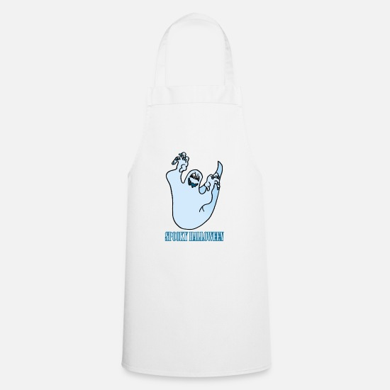 Midnight Aprons - Halloween ghost - Apron white