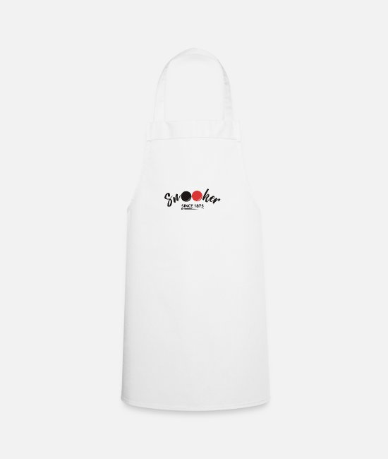 Cue Aprons - Snooker Since 1875 - Apron white