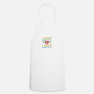 Loves Love Is Love - Apron