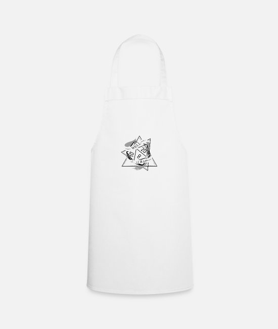 Game Aprons - RPG Dice RPG Board Game Nerd Gift - Apron white