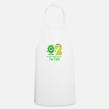Birthday Funny FUNNY 2ND BIRTHDAY MONSTER DESIGN - Apron
