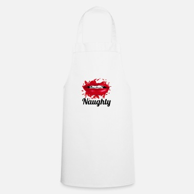 Girl naughty lips - Apron