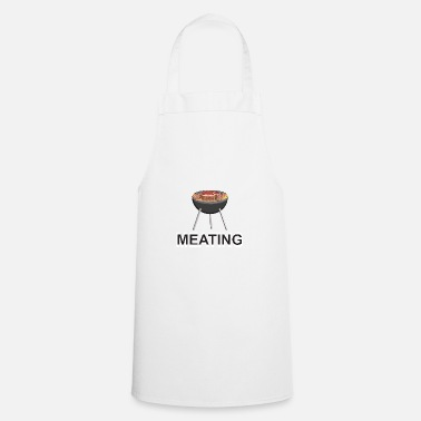 Charcoal Meating and grilling on the charcoal grill - Cooking Apron