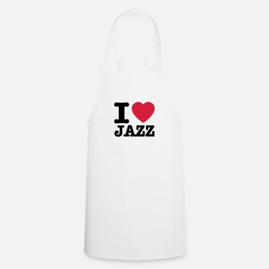 Jazz I love jazz / I heart jazz - Tablier de cuisine