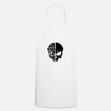 Hard Rock Skull Work Hard Play Hard Black - Delantal de cocina