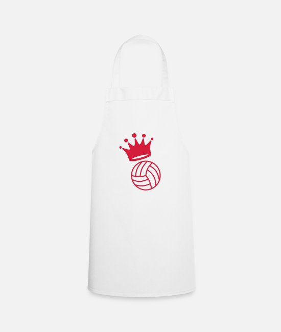Play Aprons - Volleyball - Volley Ball - Volley-Ball - Sport - Apron white
