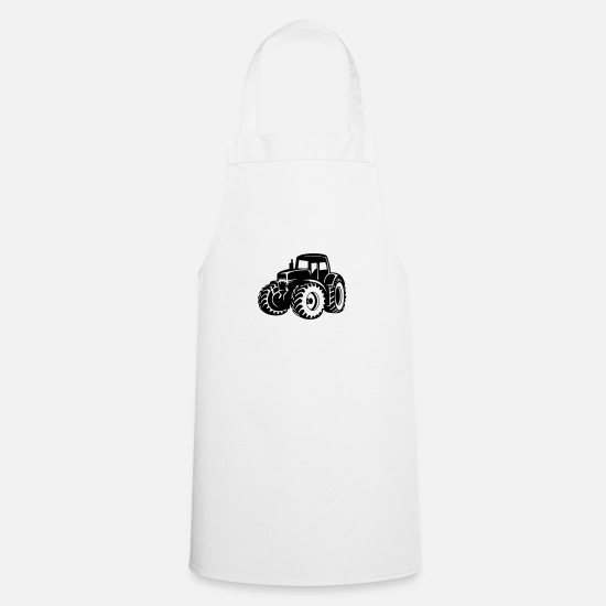 Country Aprons - tractor - Apron white