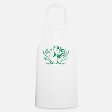 Drahthaar German Drahthaar Portrait - Antler - Apron
