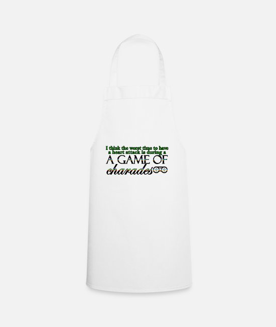 Heart Aprons - Game of Charades 53 G - Apron white