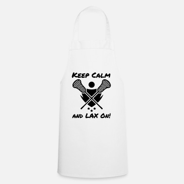 Goat Lacrosse Keep Calm and LAX On Lacrosse Player - Cooking Apron