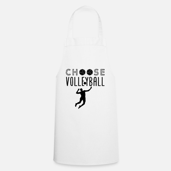 Meme Aprons - Choose volleyball - Apron white