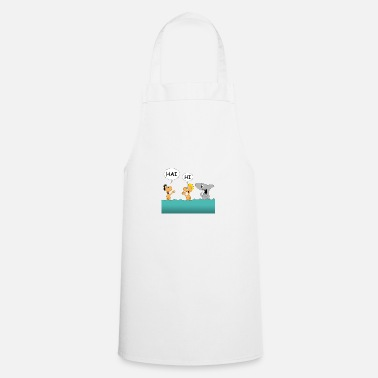 Tourist Tourists and shark - Cooking Apron