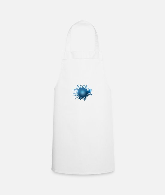 Music Aprons - music is my world - Apron white