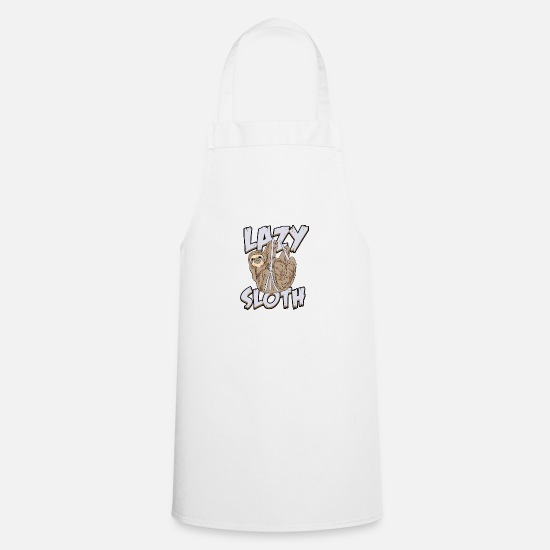Chill Aprons - Sloth lazy sloths - Apron white
