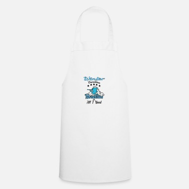 Powder Winter Mountains all I need ski skiing gift - Apron