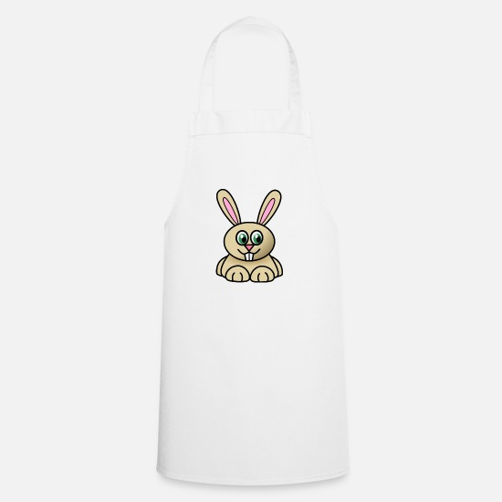 Gift Idea Aprons - Small rabbit - Apron white
