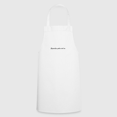 Attractive Opposites attract. - Cooking Apron