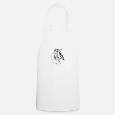 Long Hair Collie Long hair collie portrait - Apron