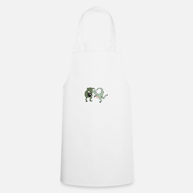 Wedding Contest T-Rex wedding - Apron
