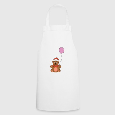 Snowman Cute Teddy Bear Balloon Christmas Xmas - Cooking Apron