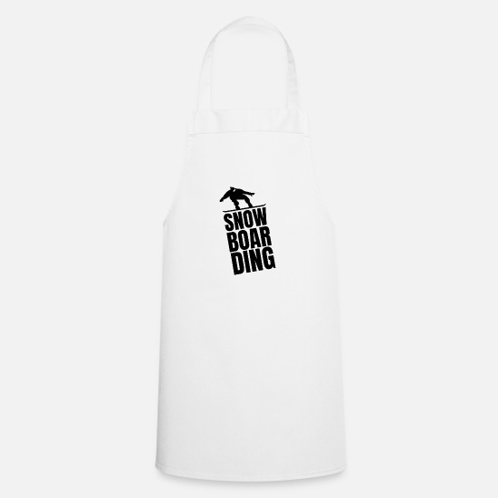 Gift Idea Aprons - Snowboardsing Huette Ski Sport winter vacation - Apron white