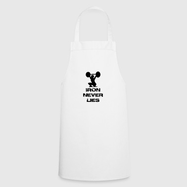 Weight training Fitness Bodybuilding ron never lies - Cooking Apron