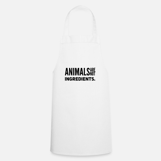 Animal Rights Activists Aprons - Animals are not ingredients animal rights shirt - Apron white