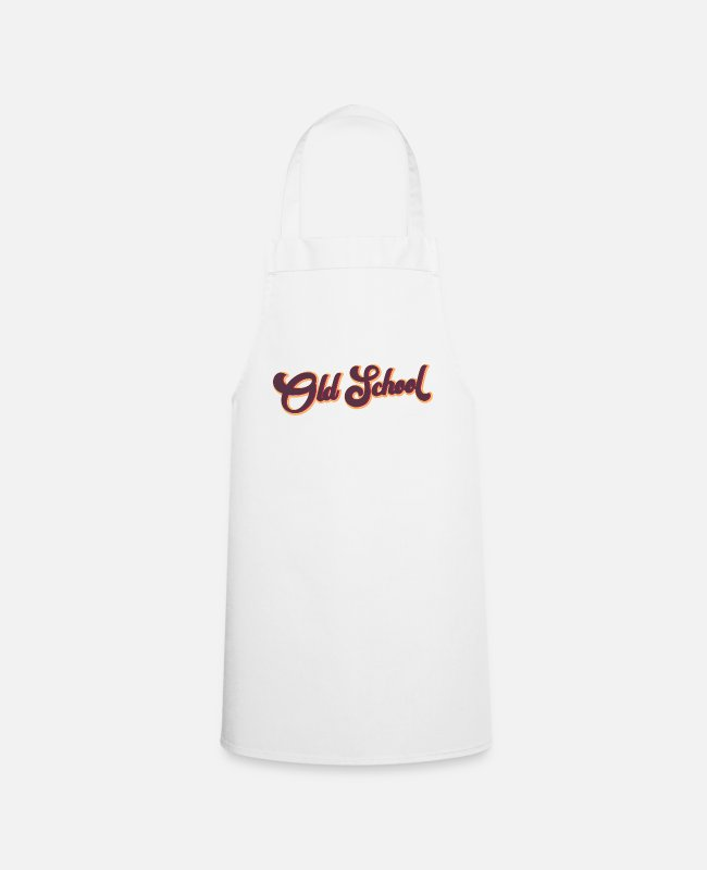 School Aprons - Old school - Apron white