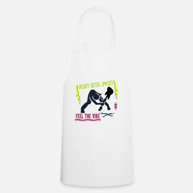heavy metal rocks - feel the vibe - Apron