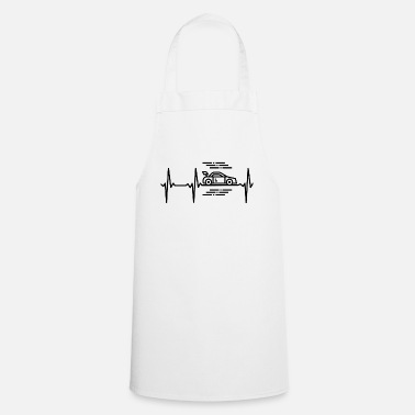 Streaker Racing car heartbeat - Cooking Apron