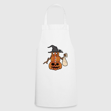 Pumpkin Halloween Monster Zombie Horror - Cooking Apron