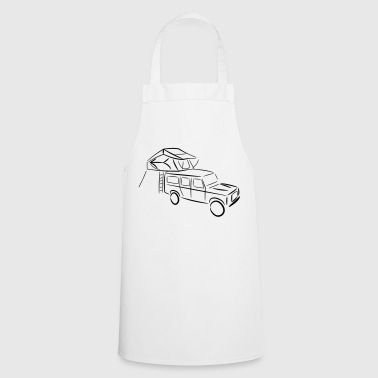 Defender with roof tent - Cooking Apron